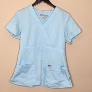Grey's Anatomy Light Blue Scrub Top Size Medium